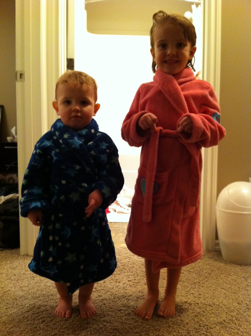 Kids in Bathrobes