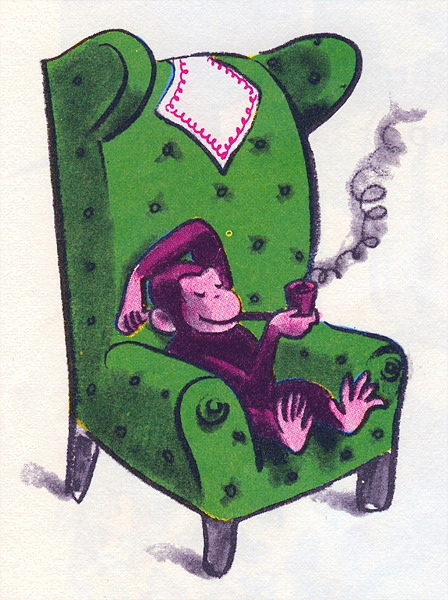 Curious George Smoking a Pipe